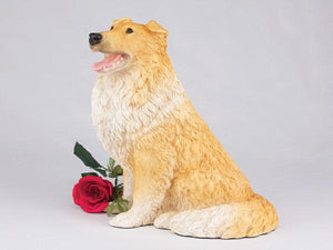 Companion Collie Orange and White Dog Pet Urn