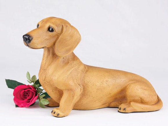 Companion Dachshund Short Hair Red Dog Pet Urn