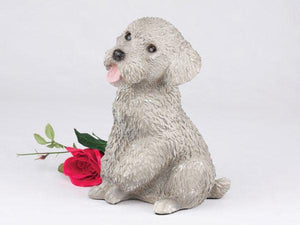 Companion Poodle Miniature Gray Dog Pet Urn