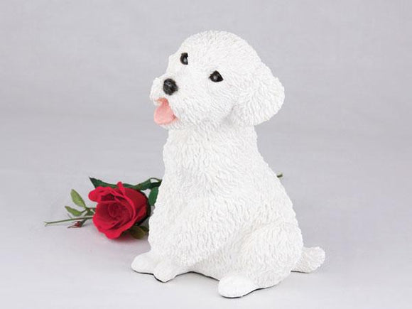 Companion Poodle Miniature White Dog Pet Urn