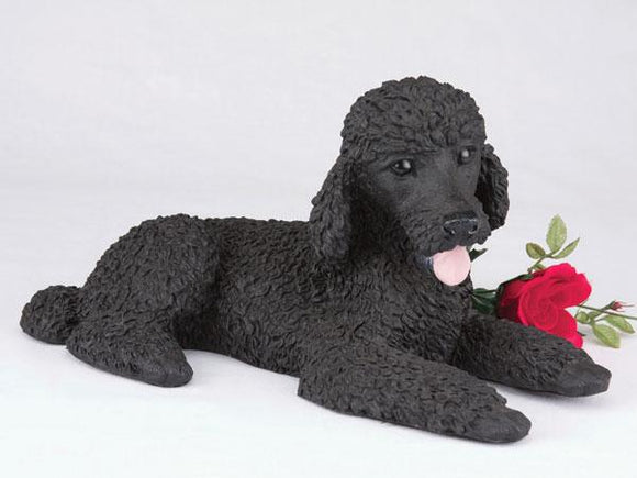 Companion Poodle Standard, Black Dog Pet Urn