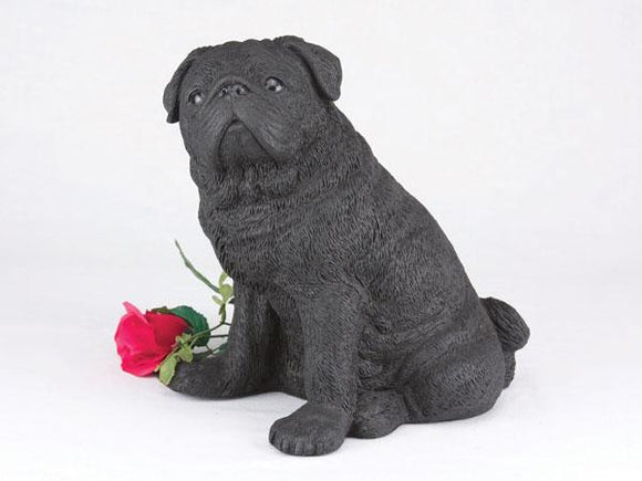 Companion Pug Black Dog Pet Urn