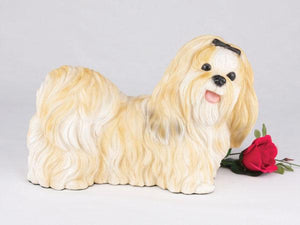 Companion Shih Tzu Gold and White Dog Pet Urn