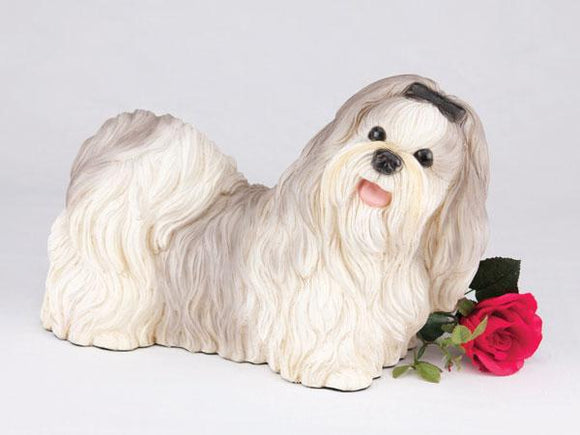 Companion Shih Tzu Gray and White Dog Pet Urn