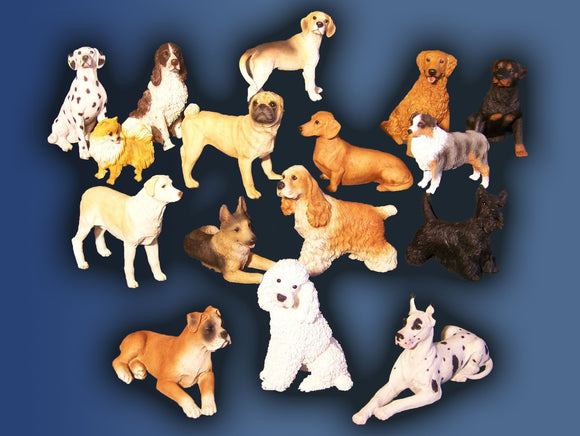 Dog Figurines (NO URN)