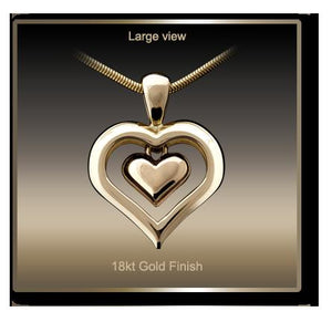 Eternity Heart Gold Plated Cremation Jewelry