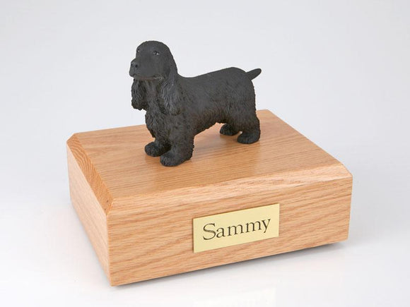 English Cocker Spaniel (Black) Figurine Dog Urn Ever My Pet