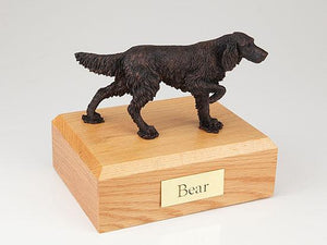 English Setter Bronze Dog Figurine Pet Cremation Urn Ever My Pet