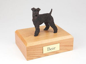 Fox Terrier Bronze Dog Figurine Pet Cremation Urn Ever My Pet