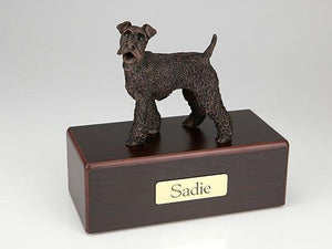 Fox Terrier Economy Bronze Series Dog Pet Urn