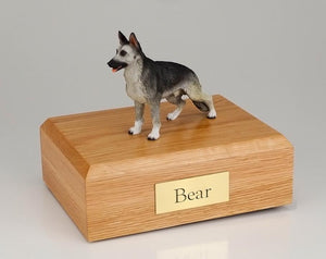 German Shepherd (Black & Silver) Figurine Dog Urn Ever My Pet