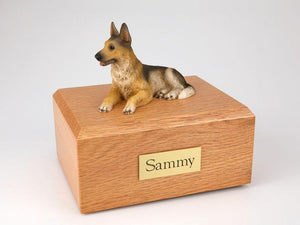 German Shepherd Laying Figurine Dog Urn Ever My Pet