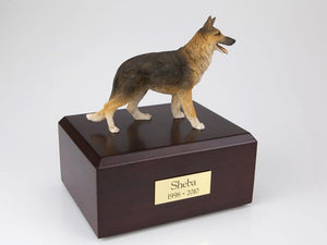 German Shepherd Standing Figurine Dog Urn