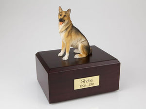 German Shepherd Sitting Figurine Dog Urn Ever My Pet