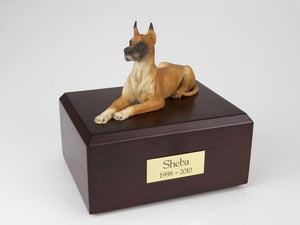 Great Dane Laying Fawn Figurine Dog Urn Ever My Pet