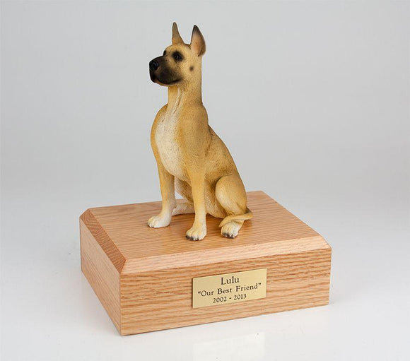 Great Dane (Sitting) Figurine Dog Cremation Urn Ever My Pet