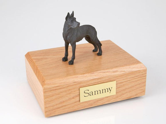 Great Dane Ears Up (Black) Figurine Dog Urn