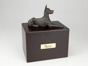 Great Dane (EarsUp) Economy Bronze Series Dog Pet Urn