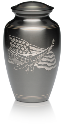 American Eagle and American Flag Cremation Urn