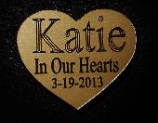 Heart Shaped Engraved Nameplate Angel Dog Nameplate Only