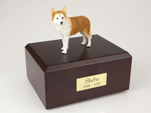 Husky Red Blue Eyes Figurine Dog Urn Ever My Pet