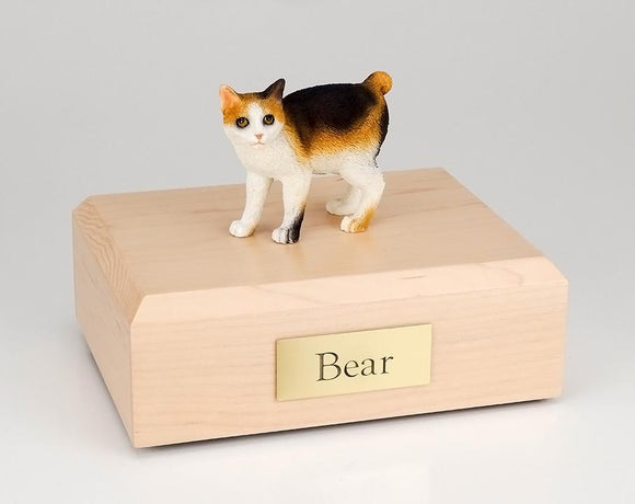 Cat Japanese Bobtail (Tort & White) Cat Urn