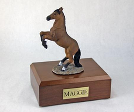 Keepsake With Bay Horse (Rearing) Figurine Urn