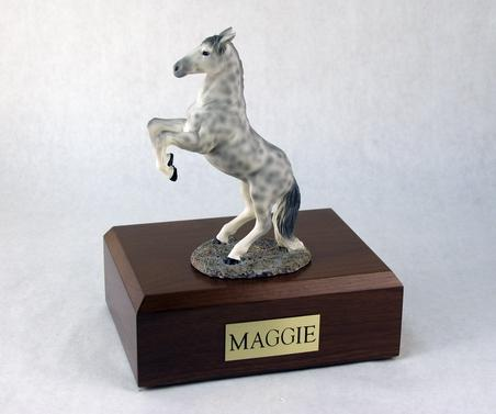 Keepsake With Dapple Gray Horse  (Rearing) Figurine Urn