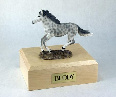 Keepsake With Dapple Gray Horse (Running) Figurine Urn
