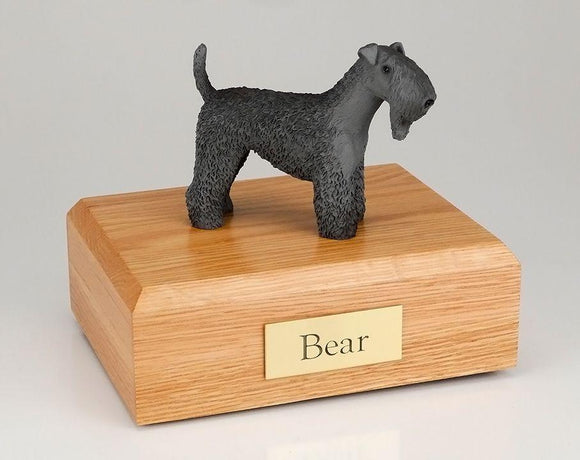 Kerry Blue Terrier Figurine Urn