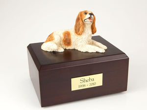 King Charles Spaniel Laying Brown Figurine Dog Urn Ever My Pet