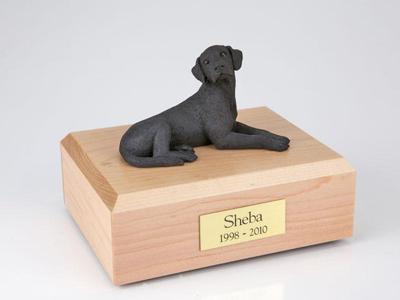Labrador Laying Black Figurine Dog Urn Ever My Pet