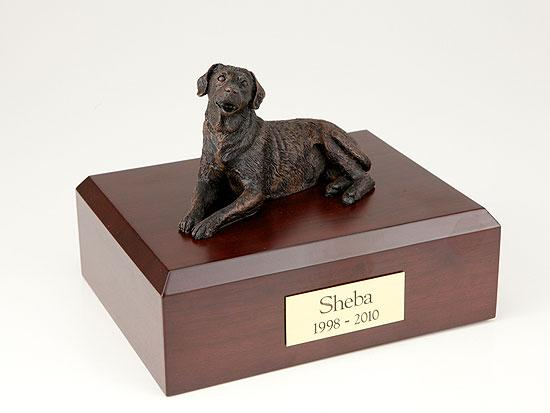 Labrador Laying Bronze Dog Figurine Pet Cremation Urn Ever My Pet