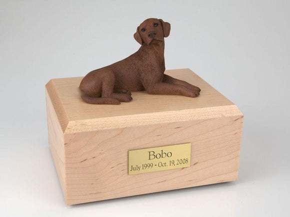 Labrador Laying Chocolate Figurine Dog Urn Ever My Pet