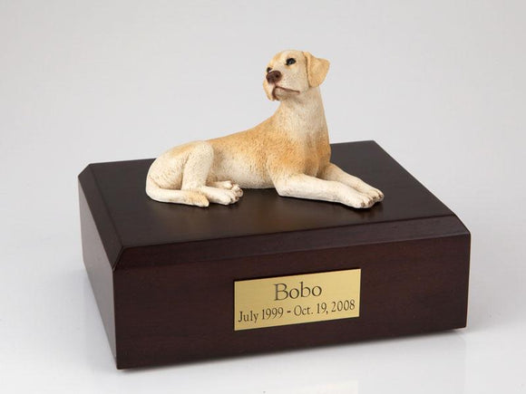 Labrador Laying Yellow Figurine Dog Urn Ever My Pet