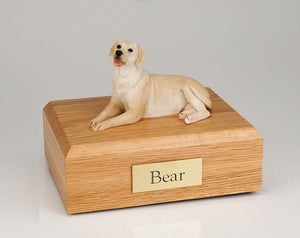 Labrador Laying (Golden) Figurine Dog Urn Ever My Pet