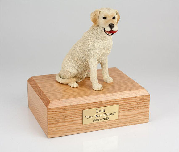 Labrador Sitting Yellow Figurine Dog Urn Ever My Pet