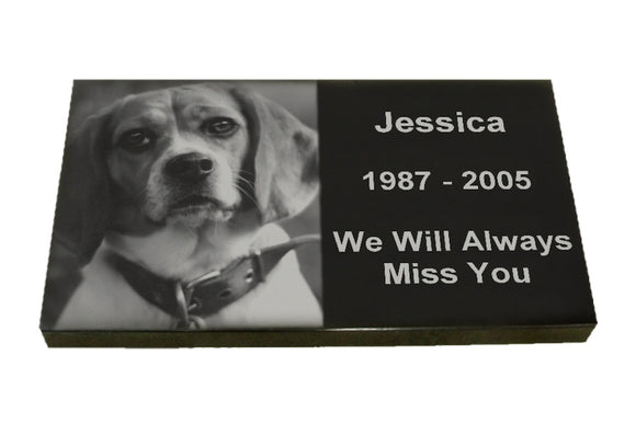Laser Etched Burial Marker For Pets