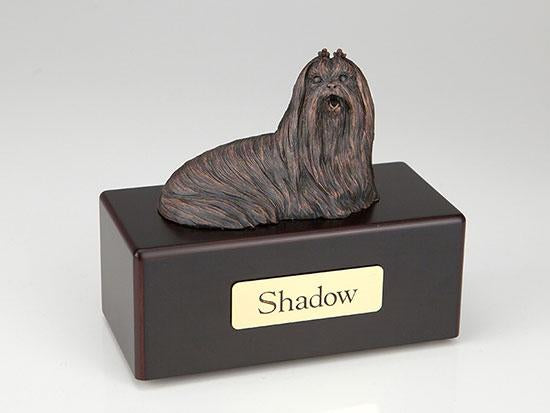Lhasa Apso Economy Bronze Series Dog Pet Urn