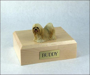 Lhasa Apso Blonde Figurine Dog Urn Ever My Pet