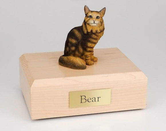 Cat Maine Coon Brown Tabby Sitting Figurine Cat Urn Ever My Pet