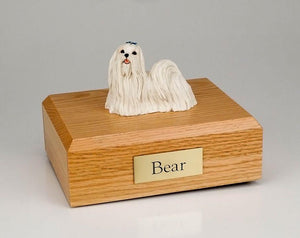 Maltese Dog Figurine Dog Urn Ever My Pet