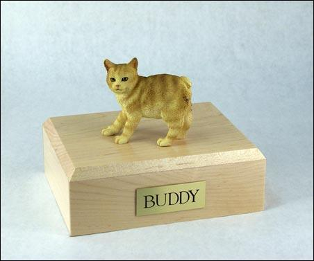 Cat Manx (Red Tabby) Figurine Cat Urn