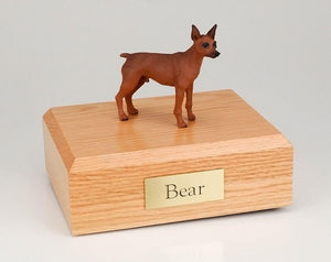 Miniature Pinscher Red and Brown Dog Figurine Urn Ever My Pet