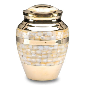 Mother of Pearl Brass Adult Cremation Urn