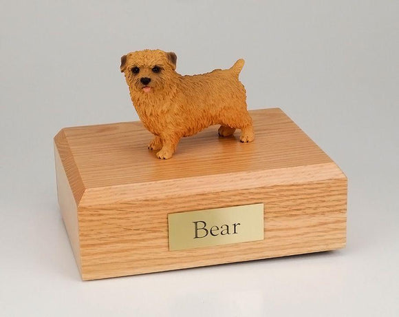 Norfolk Terrier Dog Figurine Urn Ever My Pet