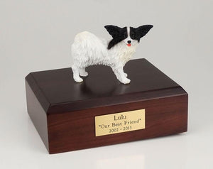 Papillon Black and White Dog Figurine Urn Ever My Pet