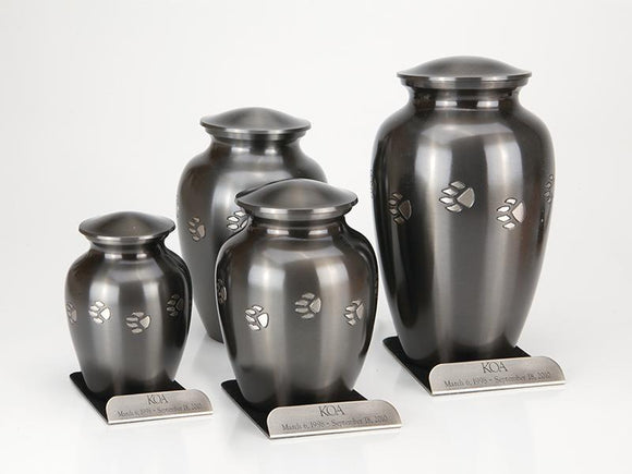 Paw Print Vase Urns With Base