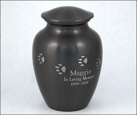 Paw Print Vase Urn (Urn Only) with engraving