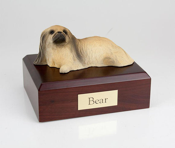Pekingese Laying Dog Figurine Urn Ever My Pet